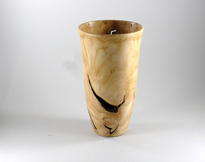 Vase from crabapple root