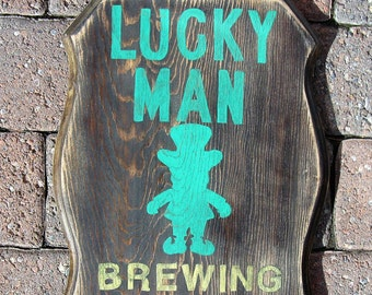 Lucky Man Brewing Company Sign