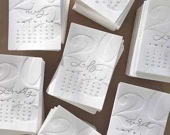 2018 letterpress desk calendar