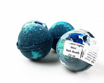 Northern Lights Mini Bath Bomb, Mini Black Bath Bomb, Small Black Bathbomb, Bath Gift Idea, Manly Spa Gift, Gifts For Her, Man Bath Gift