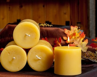 3 x 6 Inches Pillar Beeswax Candle