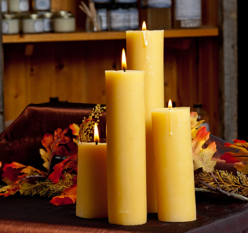 2 x 4 inch Pillar Candle image 0