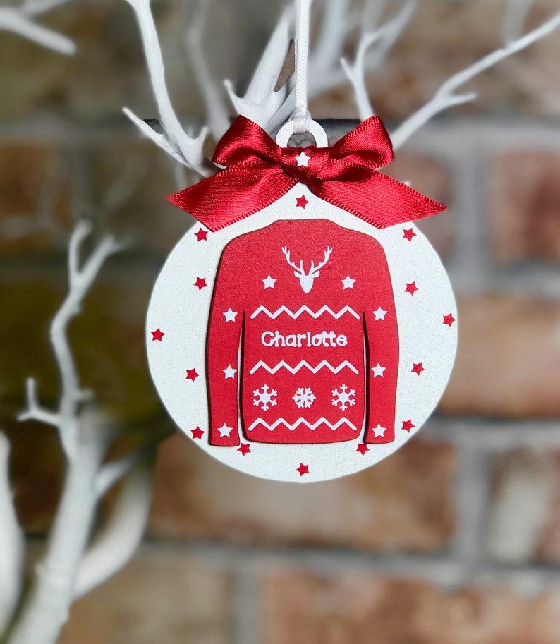 Arbre Cadeau de Noël Personnalisé Arbre de Noël Famille Babiole Décoration