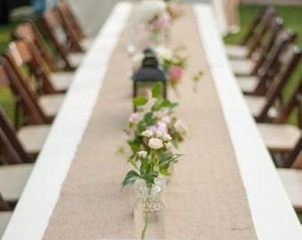 Burlap Table Runner, Modern Rustic Runner, Natural Burlap,  , Wedding Runners, Burlap Home Decor, Wedding Decor