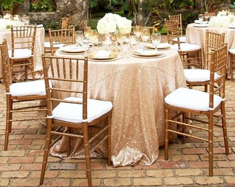 Champagne Gold Sequin Tablecloth, Round Wedding Tablecloth, Sparkle  Tablecloth, Cake Tablecloth, Candy Table, Wedding Supply