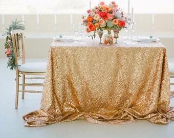 Gold Sequin Tablecloth, Wedding Tablecloth, Rectangle Tablecloth, Sparkle  Tablecloth, Glitter Table Cover, Wedding Supplies, Party Supplies