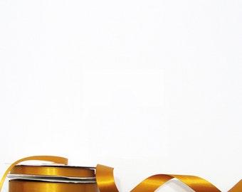 Gold Satin Ribbon - Gift Wrap Supplies - by the yard