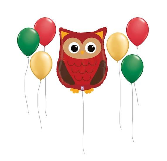 """Owl Balloon, 26"""" Owl Balloon, Woodland Party Kit, Birthday Party Kit, Birthday Party Balloons, Owl Decor, Owl Balloon Kit, Kids Party Decor"""