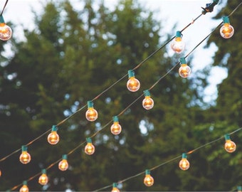 Globe Light Strand - Choose your length, Lantern Lights - Bulbs NOT INCLUDED - Wedding / Event Supplies & Decor