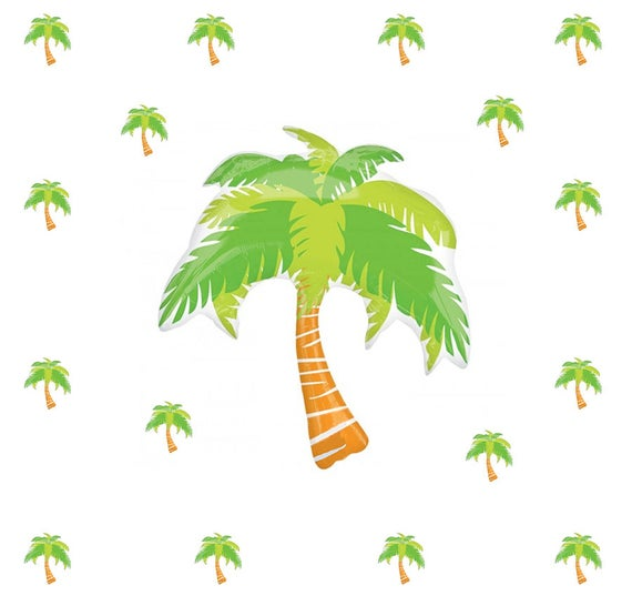 "Palm Tree Balloon Kit, 33"" Palm Tree Party Balloon, Tropical Decor, Luau Decor, Summer Decor, Pool Party Supplies, Tropical Balloon Decor"