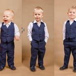 3 pcs.wedding boy suit Ring bearer outfit Boy suit Toddler suit Junior groomsmen Wedding outfit Baby boy suit Handmade in Europe Navy suit