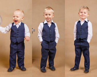 Navy blue boy suit 10dd5131e1b0