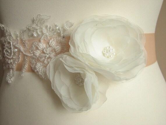 wedding bridal Peach Peach lace Peach peach ribbon Pale Bridal ivory sash sash sash Peach peach peach sash sash sash Bridesmaids ivory sash 0daf0wq