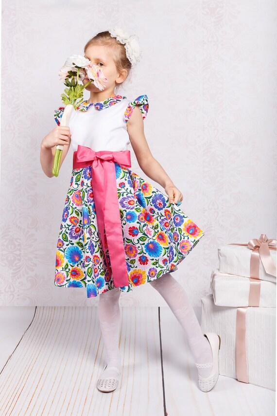 dress bridesmaids Girl Spring RAEDY girl girls SHIP girl Folk pattern dress Flower dress dress girl dress Summer dress Junior TO Zt1q1Exw