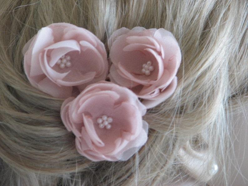 Wedding hair flower Blush hair flower Ivory hair flower Pink hair flower Ivory flower pin Bridal hair flower Cream hair flower Bridal flower