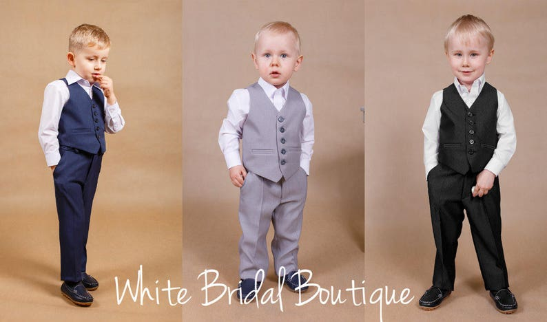 Navy blue boy suit,Boy outfit,Made in Europe,Navy outfit,Children suit,Ring bearer suit,Baby outfit,Toddler suit,Grey wedding,Christmas suit