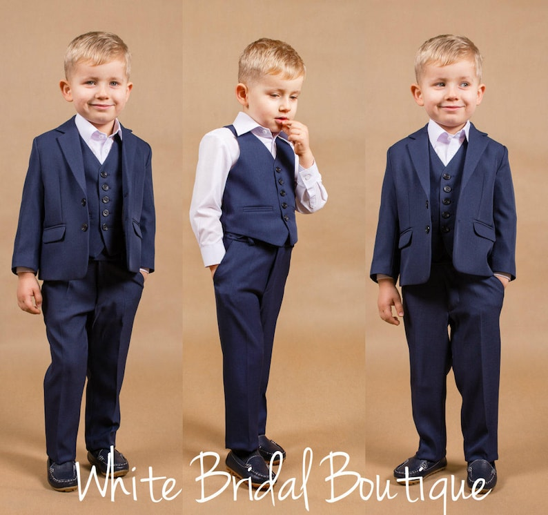Navy Suit Wedding.Ring Bearer Outfit Wedding Boy Suit Navy Boy Suit Baby Boy Outfit Wedding Suit Wedding Boy Outfit Toddler Suit Baby Boy Suit Boy Navy Suit