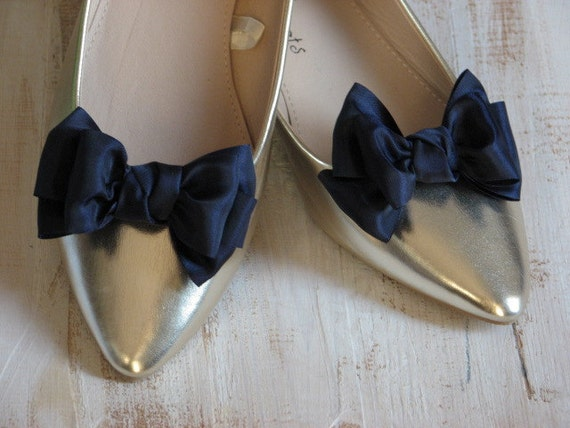 wedding shoe blue blue clips blue Navy Gift for clips gift blue Navy Bridesmaids Shoe accessory Blue her Blue bow shoe Something Navy bridal ZAqxUw5q