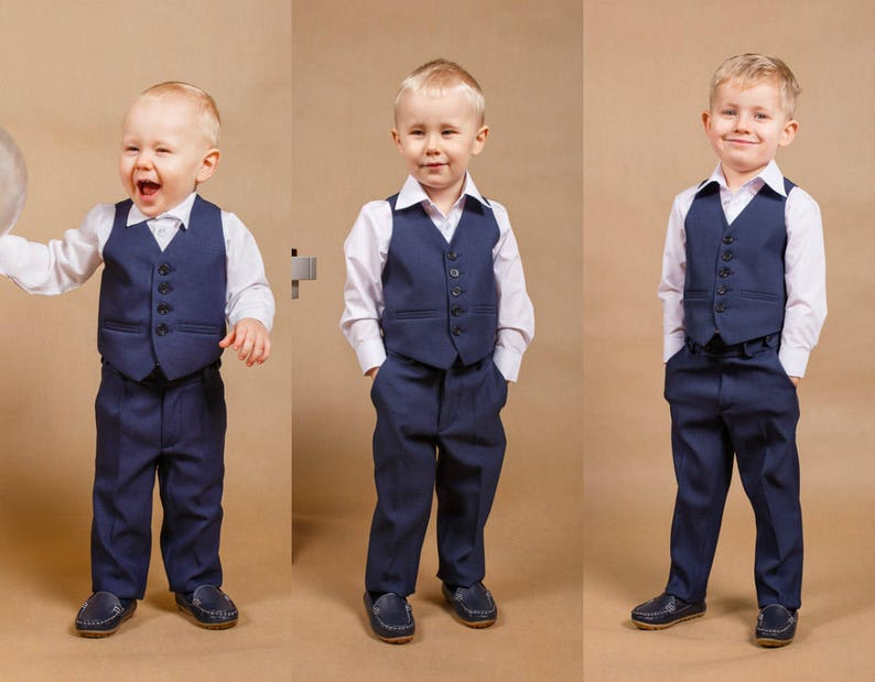 Navy blue boy suitBoy outfitMade in EuropeNavy image 0
