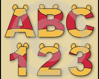 Harley quinn batman alphabet letters numbers clip art etsy - Lettre alphabet winnie l ourson ...