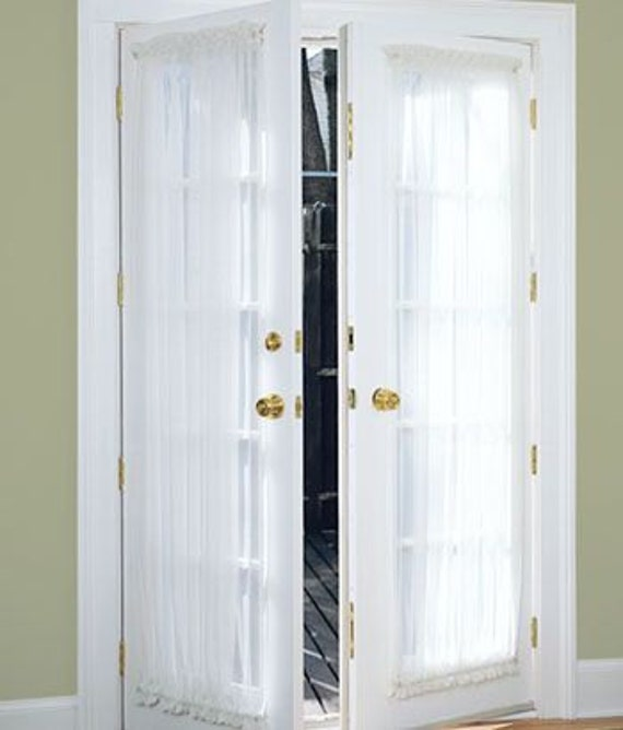 Door Curtains French Door Curtains White Door Curtains Etsy