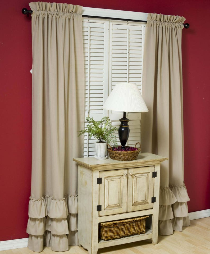 Curtains Window Curtain Panels Drapes Draperies Window Etsy
