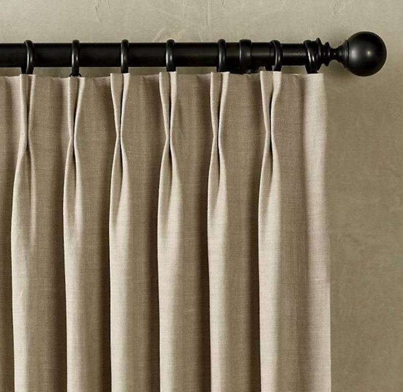 Pleated Window Curtains Pinch Pleated Drapes Pleated Etsy