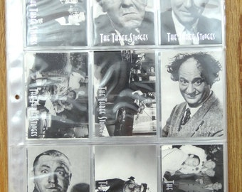 Three Stooges DuoCards. Complete Set in NM/MT Condition.