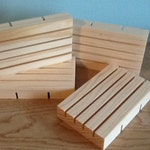 Wood Soap Draining Dish