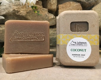 Coconut Soap - Tropical Gift - Cold Process Soap -