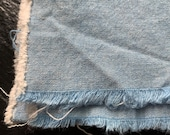 Vintage Blue Chambray Cotton Fabric 36x62 quot BTY, by the yard deadstock medium denim blue