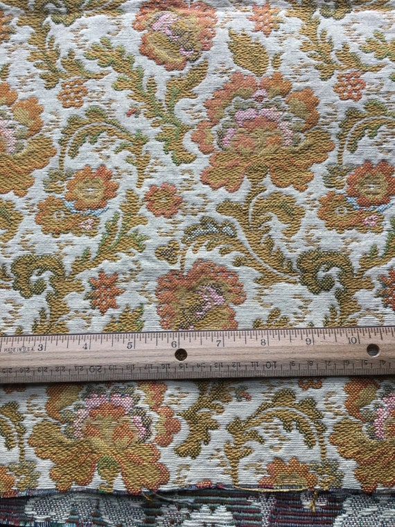 Vintage Tapestry Brocade Upholstery Fabric 46x55 Etsy