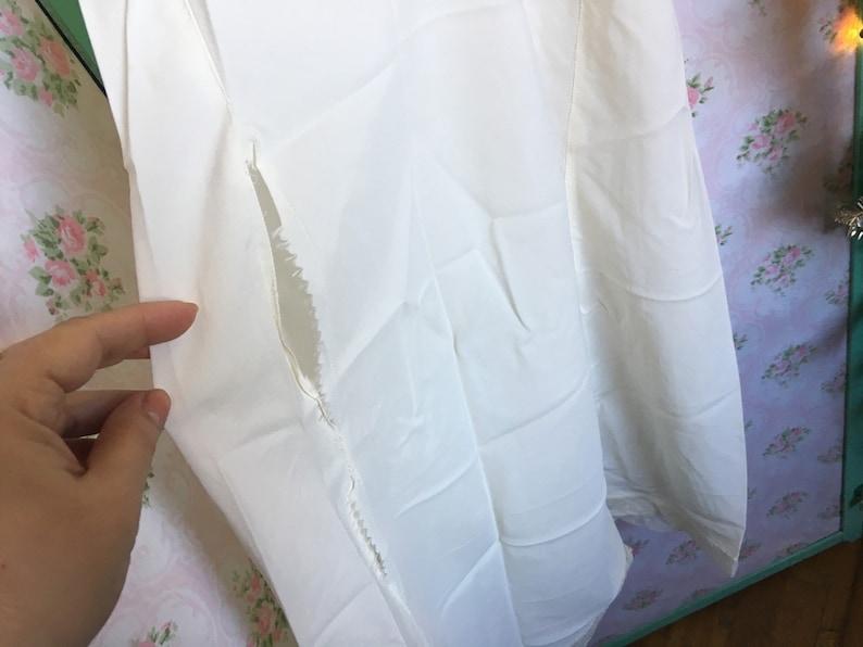 adjustable straps  as is Vintage Nylon Full Slip  S-M  lace