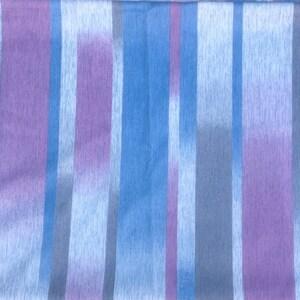 Vintage Mod Striped Fabric  silky draping polyester knit yellow orange 62 x 36 purple