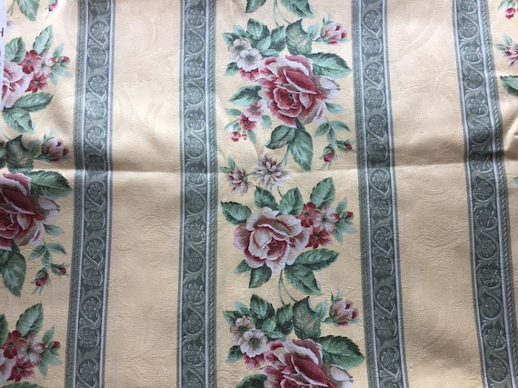 Vintage Damask Upholstery Fabric 1 Yd X 56 Pink Etsy