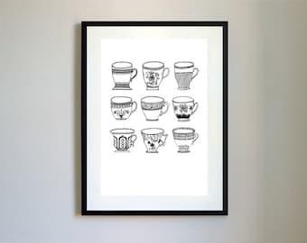 Teacup Print.