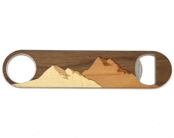 Mountain Wood Bottle Opener |  National Park Foundation Bottle Opener | We Plant a Tree for Every Product Sold | Wooden Gifts