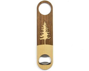 Trees for the Future Wood Bottle Opener | Tree Bottle Opener | 20% of Profits Donated to Trees for the Future | Wooden Charity Gifts