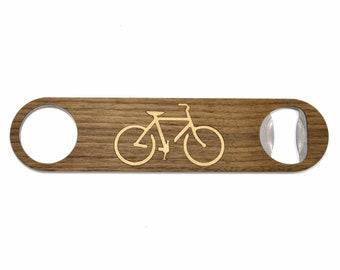 Bike Wood Bottle Opener - Cyclist Bottle Openers - Wood Bike Gifts - Beer Bottle Openers - Outdoors Gifts with Bike Manly Handmade