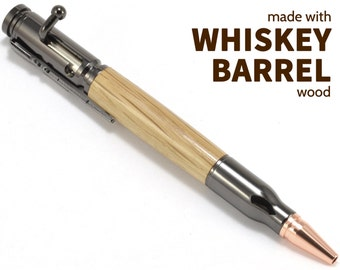 Whiskey Barrel Pen - Whiskey Pens - Custom Makers Mark Pen - Gifts for Whiskey Lover - Jim Beam Pen - Bourbon Barrel Pen