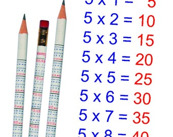 Kids Times Table Viarco Pencil With Erasor