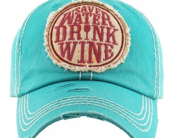9a46defbb13e0 save water drink wine vintage baseball cap