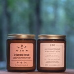Golden Hour   2018 Holiday   Scented Soy Candle ( 8 oz Reusable Jar)
