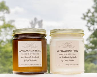 Appalachian Trail Cabin Candle | Public Lands | Natural Soy Candle (8 oz Reusable Jar)