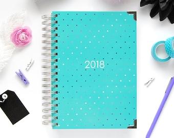 The 2018 Ashley Shelly Planner: Aqua Glam (Jan-Dec)