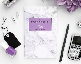 Ashley Shelly Budget Notebook: Lavender Marble