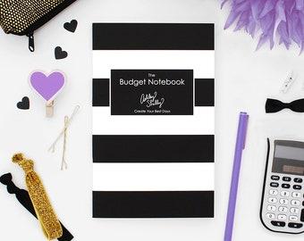 Ashley Shelly Budget Notebook: Black Stripe