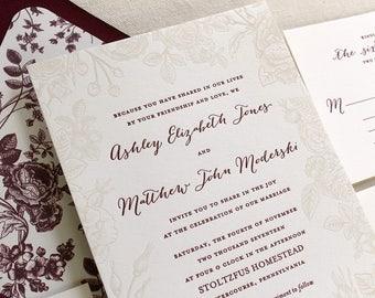 Letterpress Wedding Invitations & Personal von DinglewoodDesign