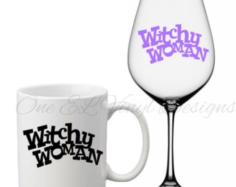 Witchy Woman - Halloween Decal, Vinyl Decals - Mugs/Wine Glass NOT included