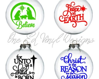 Decals for DIY Christmas Balls / Baubles / Mirrors and more - Christmas Decals, Christmas Decor